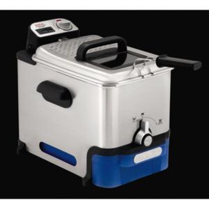 Tefal FR8040 Oleoclean Pro Inox & Design Fritteuse Edelstahl/Schwarz