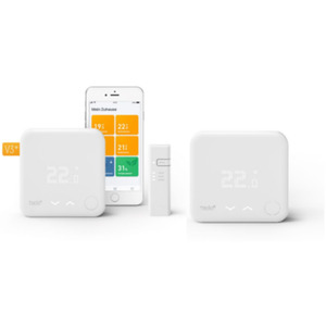 tado° Smart Thermostat Starter Kit V3+ mit 2 Raumthermostaten & Bridge