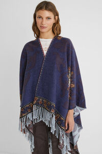 Wendeponcho mit Muster