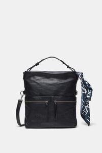 Quadratische Tasche mit flachen Außentaschen