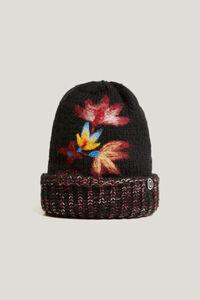 Mütze aus Strick mit Umschlag