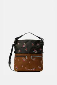 Quadratische Tasche mit Paisley