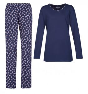 Götzburg Damen Schlafanzug, dunkelblau