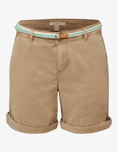 Esprit - Stretch-Shorts mit geflochtenem Gürtel und seitlichem Ripsband
