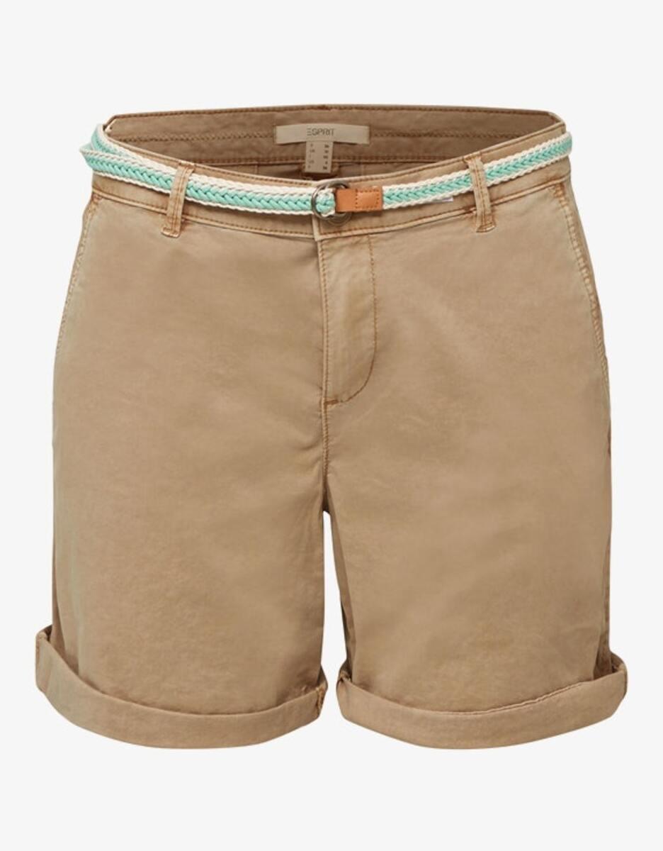 Bild 1 von Esprit - Stretch-Shorts mit geflochtenem Gürtel und seitlichem Ripsband