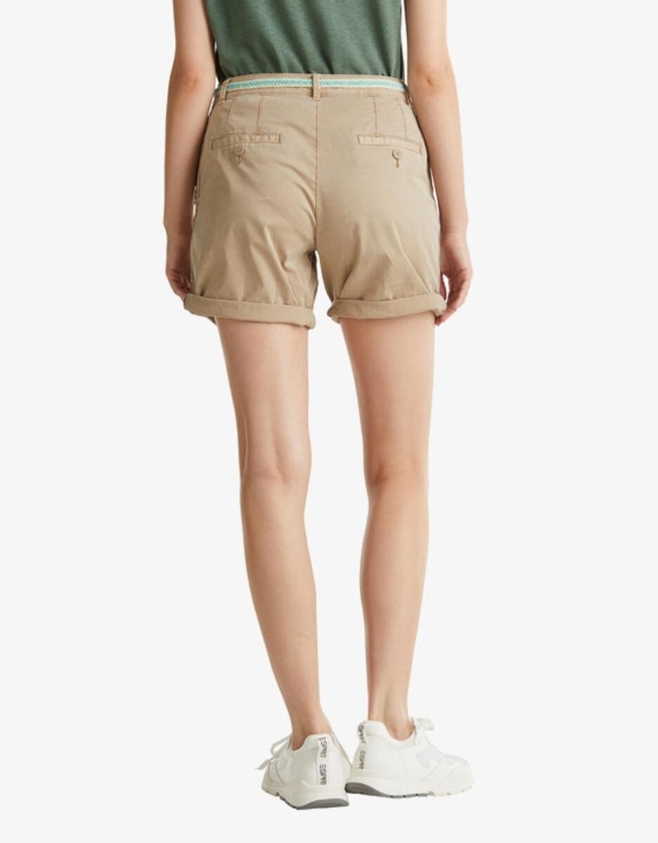 Bild 2 von Esprit - Stretch-Shorts mit geflochtenem Gürtel und seitlichem Ripsband