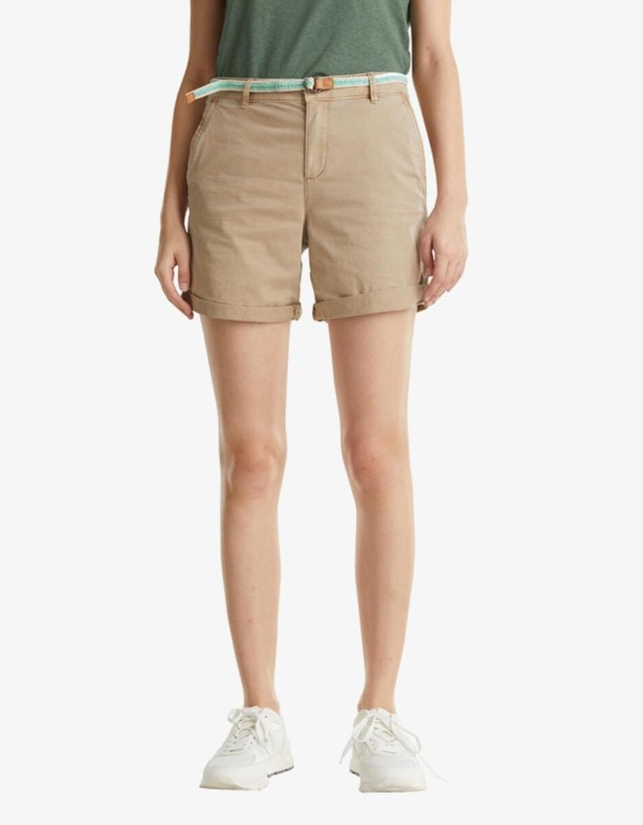 Bild 3 von Esprit - Stretch-Shorts mit geflochtenem Gürtel und seitlichem Ripsband
