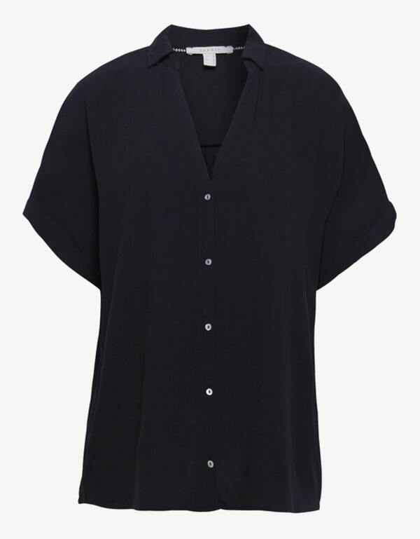 Esprit - Hemdbluse aus reiner Viskose