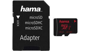 Hama microSDXC 128GB UHS Speed Class 3 UHS-I 80MB/s + Adapter/Foto