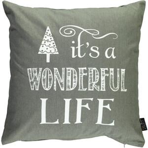 Kissen mit Schriftzug zur Weihnachtszeit 45x45cm