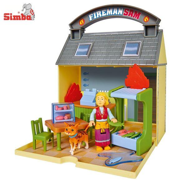 Feuerwehrmann Sam Spielhaus Kabeljaucafé
