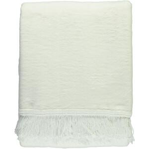 Decke unifarben mit Fransen 130x170cm