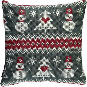 Kissen in Strickoptik mit Weihnachtsmotiven 45x45cm