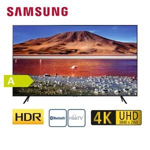 """GU50TU6979 · 2 x HDMI, USB, CI+ · integr. Kabel-, Sat- und DVB-T2-Receiver · Maße: H 64,4 x B 111,6 x T 6 cm · Energie-Effizienz A (Spektrum A+++ bis D), Bildschirmdiagonale: 50""""/125 cm"""