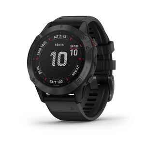 GPS-Multisportuhr Fenix 6 Pro grau schwarzes Armband