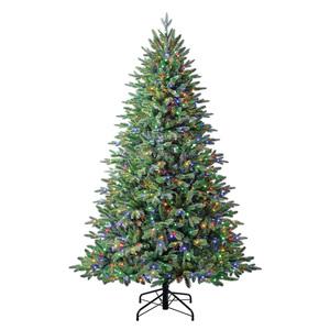 Evergreen Weihnachtsbaum Sherwood Fichte mit Lichterkette 210cm