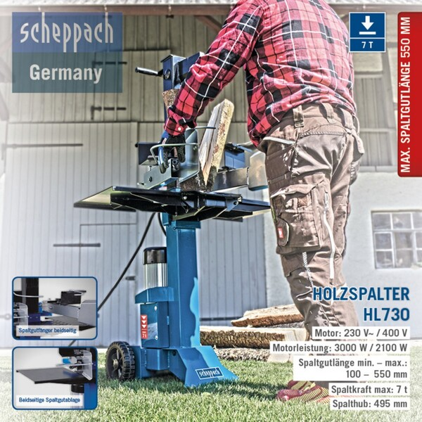 Scheppach HL730 | 7 T Holzspalter 230 V