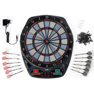 Topfit LED Dartspiel, rot, grün, schwarz