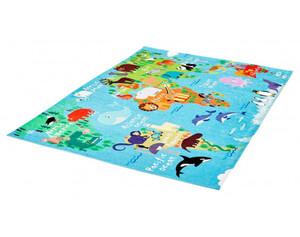 Teppich Fun Kids ca. 120 x 170 cm Weltkarte