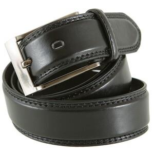 Ledergürtel Herren 115-135 cm in schwarz 3,3 cm Breite