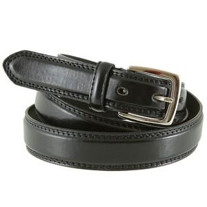 Ledergürtel Herren 115-135 cm in schwarz 2,8 cm Breite