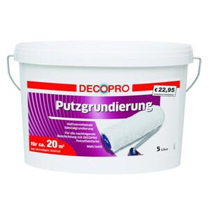 DecoPro Putzgrundierung 5 Liter weiß matt