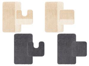 MIOMARE® Badezimmergarnitur, 2-teiilig, Latex-Unterseite