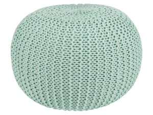 LIVARNO LIVING® Sitzpouf, in Häkeloptik, 45 cm Durchmesser, Bezug aus reiner Baumwolle