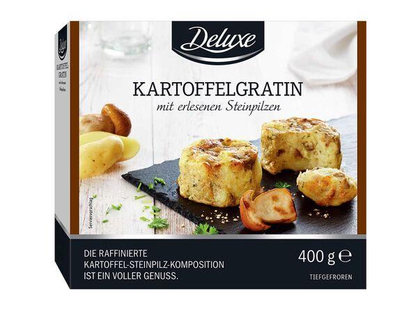 Kartoffelgratin mit Steinpilzen