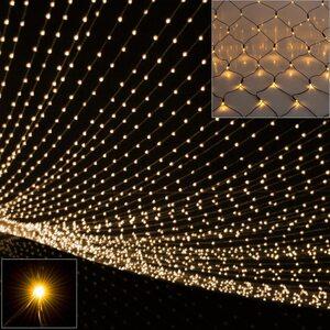 Deuba Netzlichterkette 160 LED warmweiß