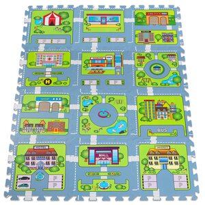 Deuba Puzzlematte 20 TLG - Straßenspiel - 121x91cm Spielmatte