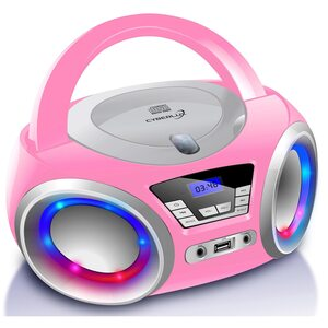 Cyberlux CD-Player CD/MP3 USB mit LED-Beleuchtung pink