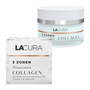 LACURA  	   				3 Zonen Pflegecreme Collagen