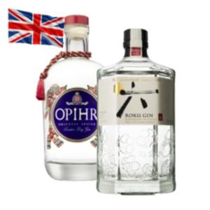 Roku Japanese Craft Gin, Opihr Oriental Gin