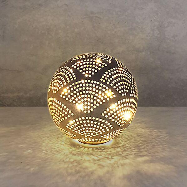 Deko-Glaskugel mit 10 LEDs Warmweiß
