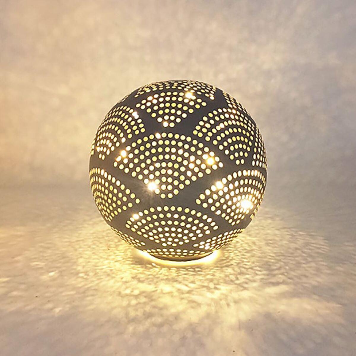 Bild 2 von Deko-Glaskugel mit 10 LEDs Warmweiß