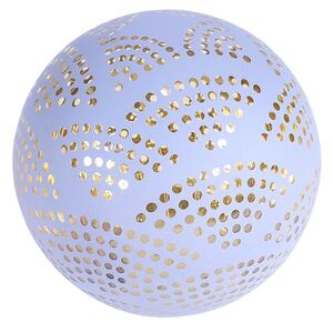 Deko-Glaskugel mit 6 LEDs Warmweiß