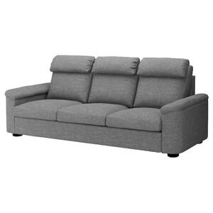 LIDHULT 3er-Sofa, Lejde grau/schwarz