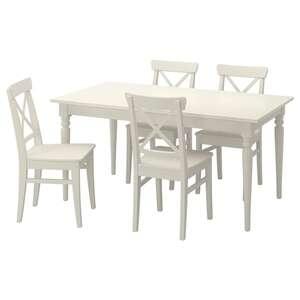 INGATORP / INGOLF Tisch und 4 Stühle, weiß