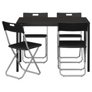 TÄRENDÖ / GUNDE Tisch und 4 Stühle, schwarz