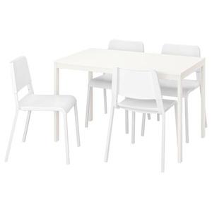 VANGSTA / TEODORES Tisch und 4 Stühle, weiß/weiß