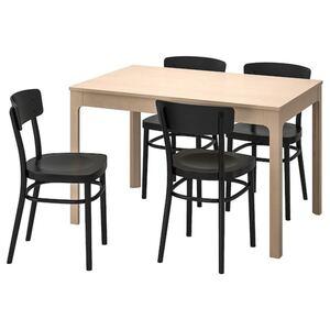 EKEDALEN / IDOLF Tisch und 4 Stühle, Birke/schwarz
