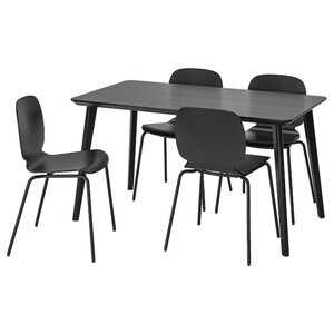 LISABO / SVENBERTIL Tisch und 4 Stühle, schwarz/schwarz