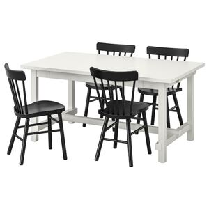NORDVIKEN / NORRARYD Tisch und 4 Stühle, weiß/schwarz