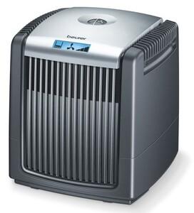 BEURER LW 220 Luftwäscher schwarz (Kaltverdunstung, Hausstaub, Tierhaare, Pollen, Gerüche, LCD Display, Doppelfunktion: Luftbefeuchter, Luftreiniger)