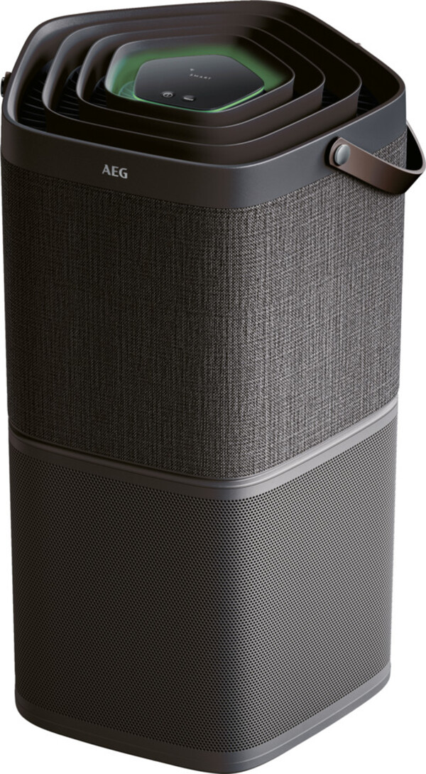AEG AX91-404DG Luftreiniger (App, Staub, Hautschuppen, Bakterien, Aktivkohle, Küchengerüche, flüsterleise)