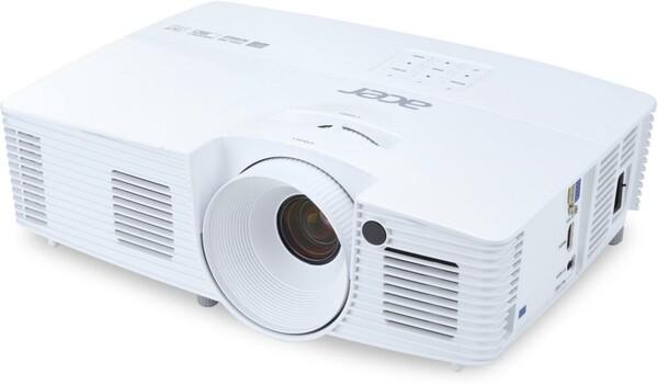 ACER H6519ABD weiß Beamer (Full-HD 1920 x 1080, 3400 Lumen, 20000:1 Kontrast, HDMI, 144 Hz Triple Flash 3D Wiedergabe)