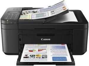 CANON PIXMA TR4550 schwarz Multifunktionsdrucker (Tintenstrahldrucker, 4-in-1, Fax, Scanner, Kopierer, USB, WLAN, AirPrint, Cloud Print, Duplex, ADF, Randloser Farbdruck)
