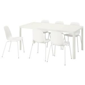 TINGBY / LEIFARNE Tisch und 6 Stühle, weiß/weiß
