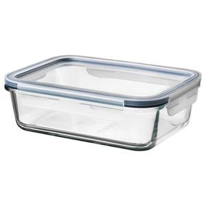 IKEA 365+ Vorratsbehälter mit Deckel, rechteckig Glas/Kunststoff